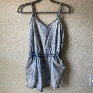 Acid washed romper